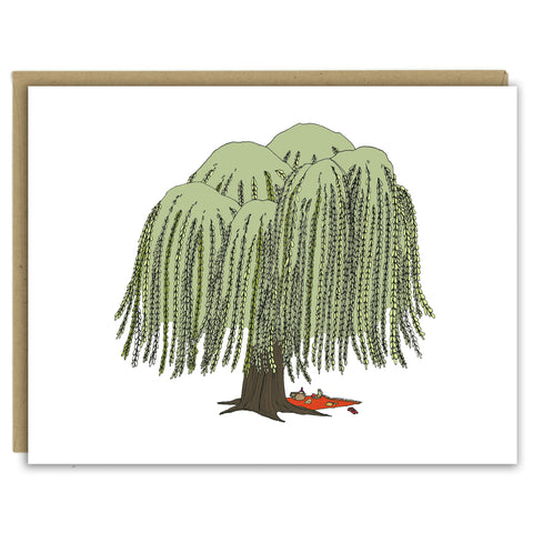 Willow Tree Picnic Greeting Card