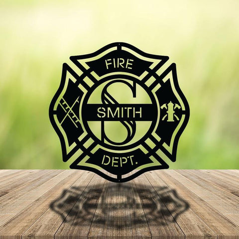 Personalized Firefighter Monogram