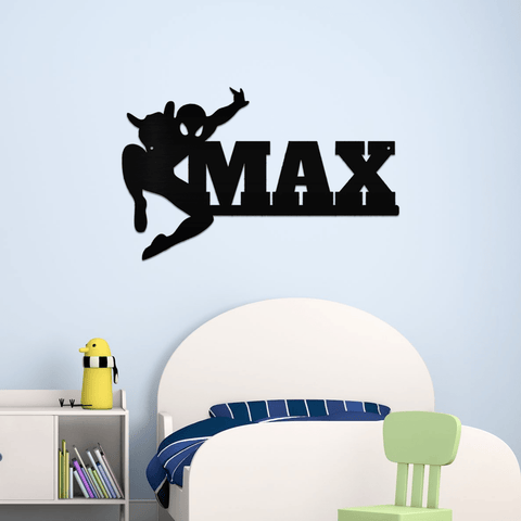 Spider-man Name Metal Sign