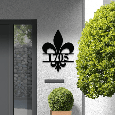 Fleur De Lis Simple Address