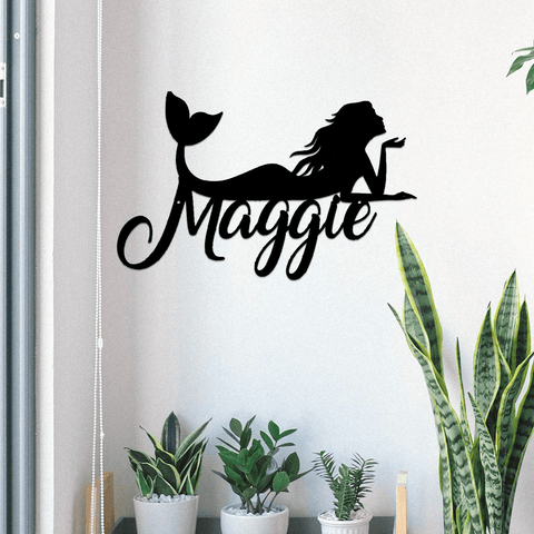 Mermaid Metal Sign