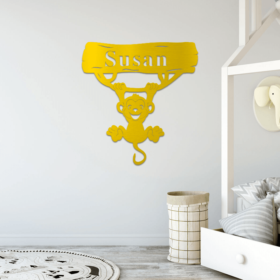 Monkey Nursery Sign