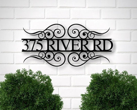 Metal House Number Sign