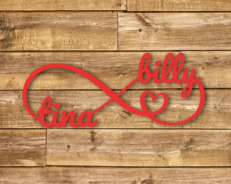 Personalized Infinity Love Sign