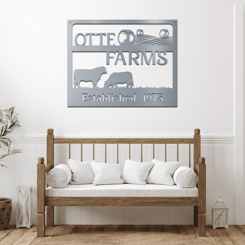 Square Farm Sign