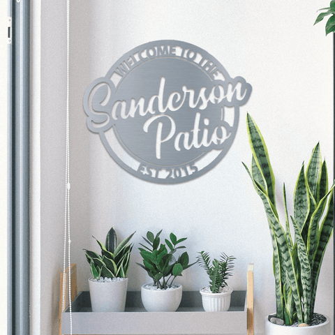 Personalized Patio Sign