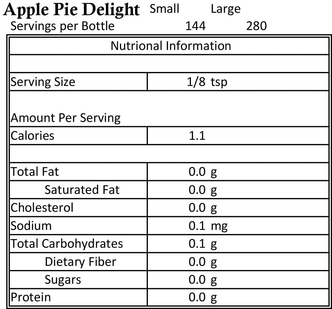 Apple Pie Delight 3.5oz
