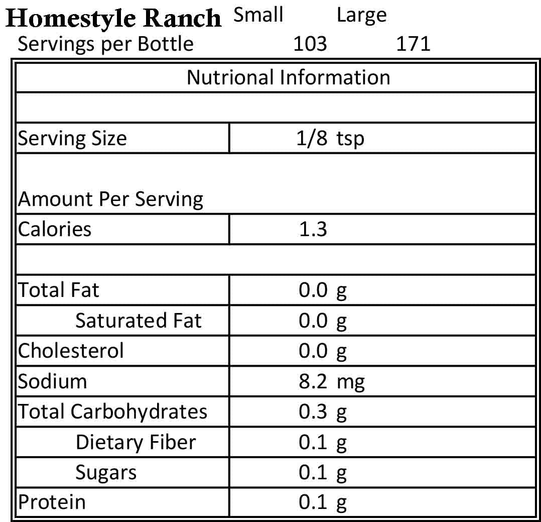 Homestyle Ranch 1.8oz
