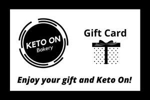 Keto On Gift Cards, low carb, sugar free, ketogenic