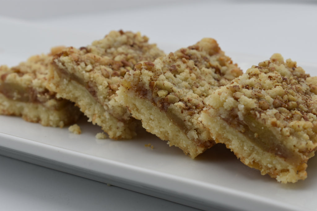 Keto Apple Pie Bars, low carb, sugar free, ketogenic