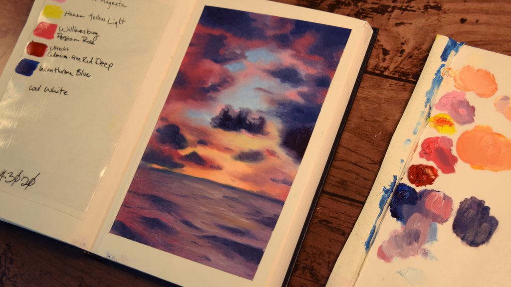 Oil Book 4 | Painting a Sunset at Sea
