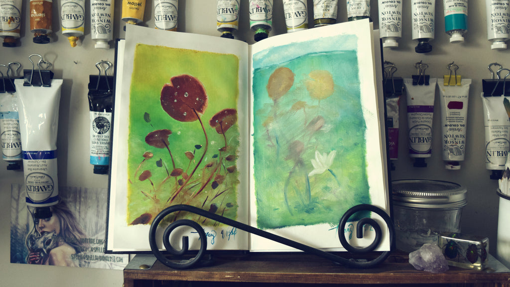 Oil Book 2 | Painting Lily Pads