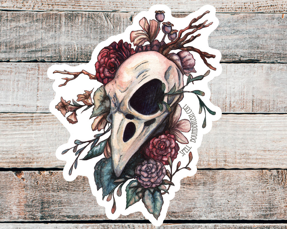 Bird Brain Die Cut Sticker