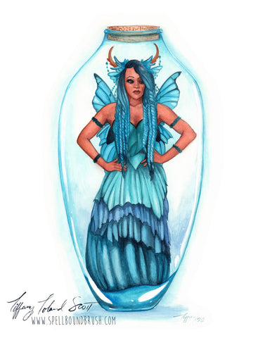 "11x14 Print ""Blue Bottle Fairy"""