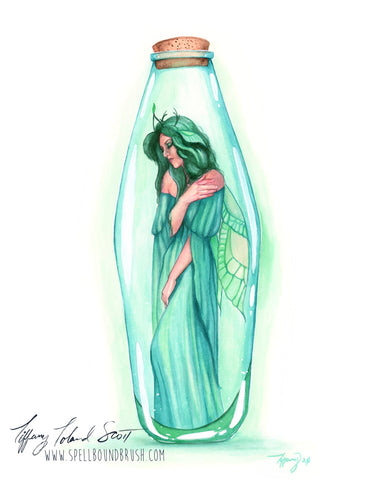 "11x14 Print ""Green Bottle Fairy"""