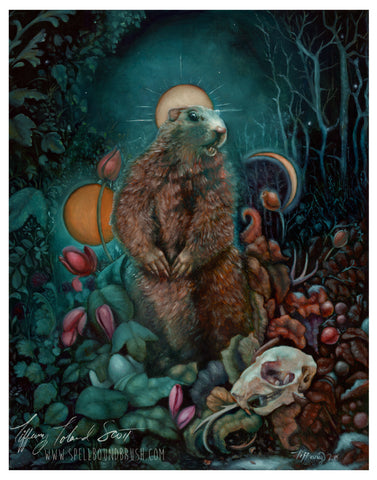 "11x14 Print ""Invocation of the Groundhog"""