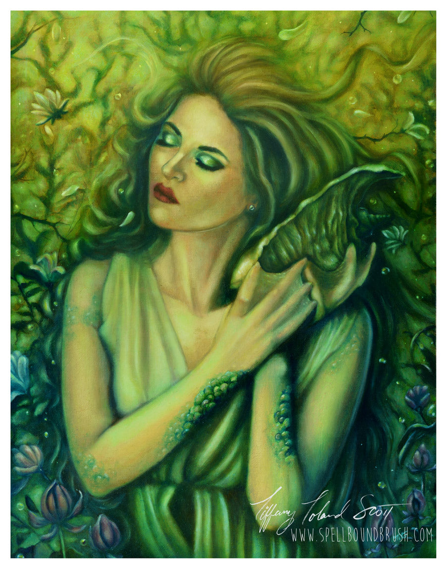 "11x14 Print ""Magnolia Mermaid"""