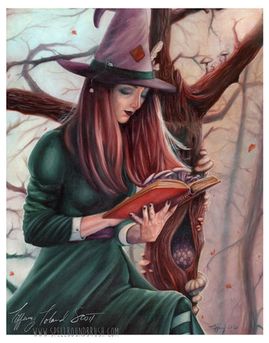 "11x14 Print ""Mycellina The Mushroom Witch"""