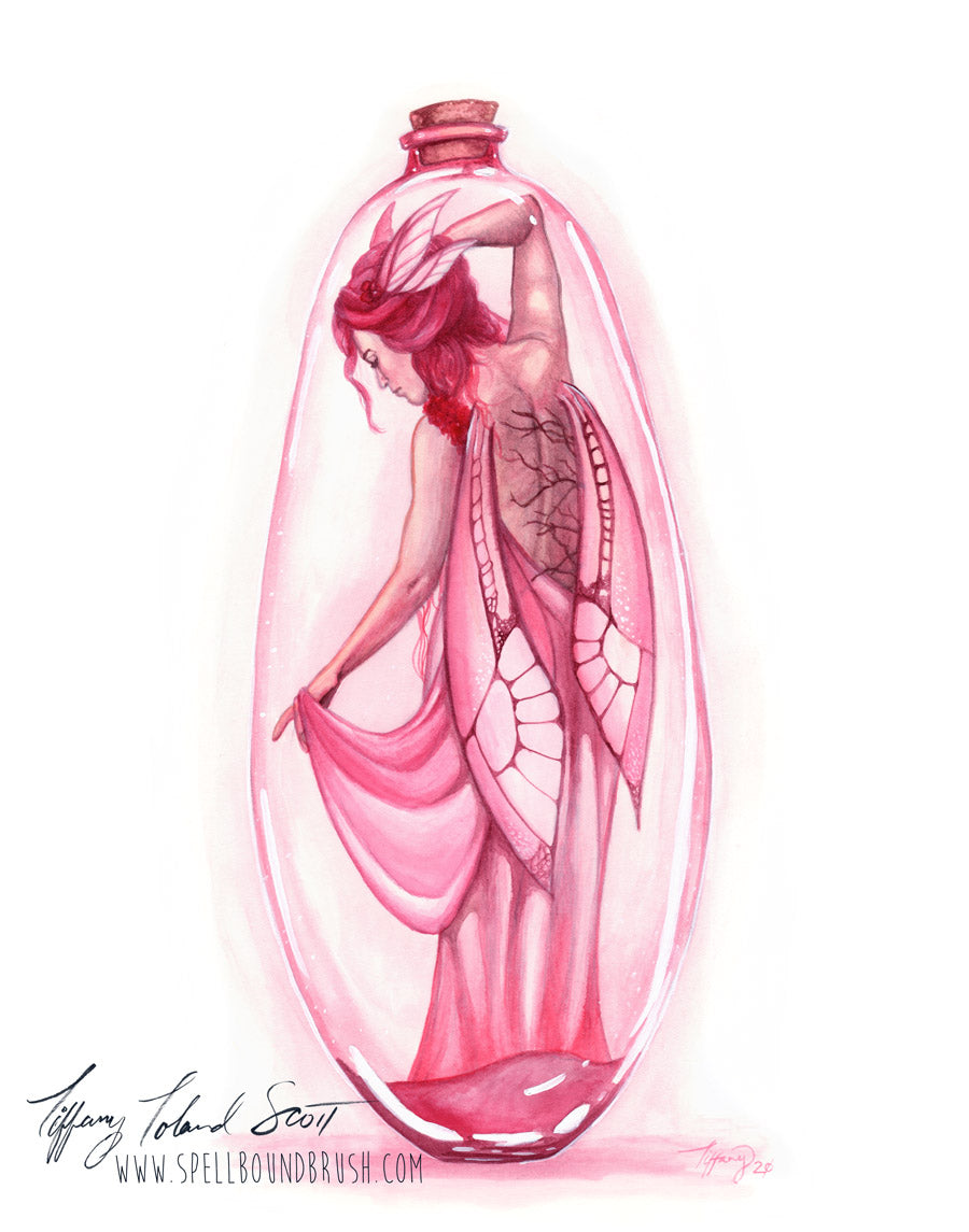 "11x14 Print ""Pink Bottle Fairy"""