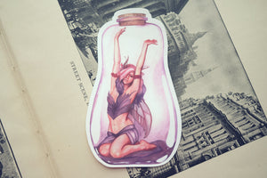 Purple Bottle Fairy Die Cut Sticker