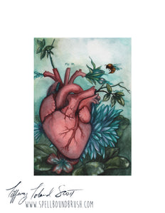 "8x10 Print ""The Blooming Heart"""