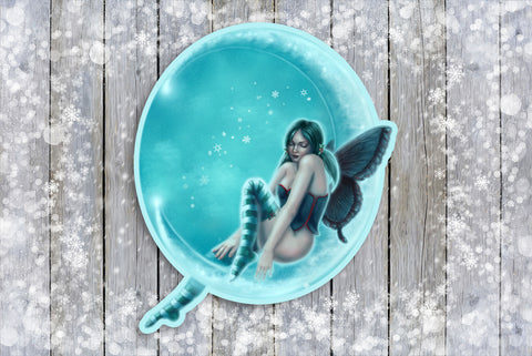 Wintergreen Moon Fairy Sticker