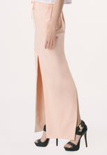 Long Skirt with Slit - Peach