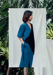 Zen Wrap Dress - Blue