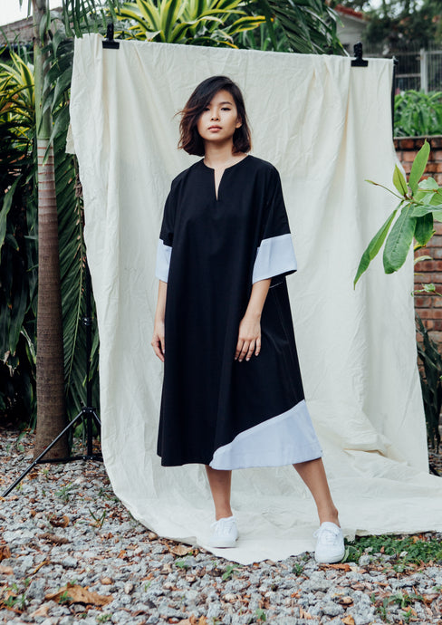 Sora Oversized Dress - Black