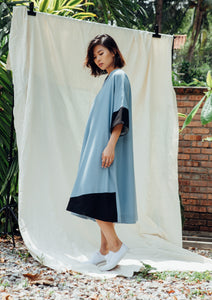 Sora Oversized Dress - Blue