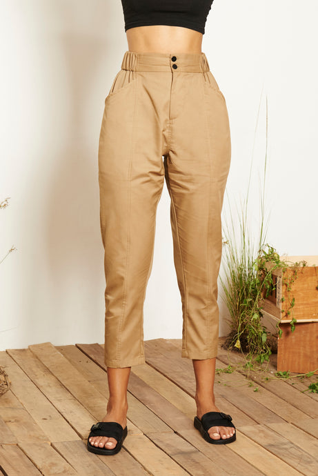 Aira High-waisted Pants - Khaki