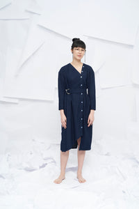 Nara Oversized Dress with Belt - Denim