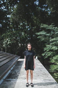 Kai High Neck Tunic - Black