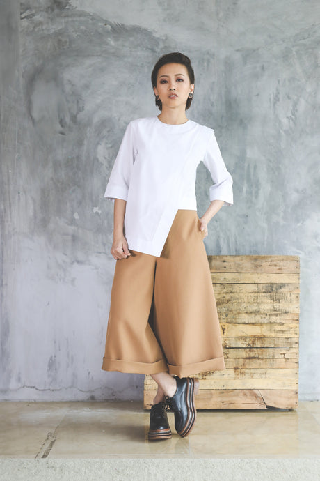 Morgen Wide Leg Pants - Tan