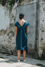 Nell Drape Dress - Blue