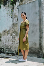 Nell Drape Dress - Green
