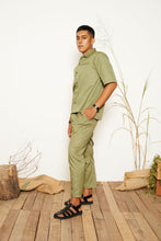 Liam Belted Pants - Green