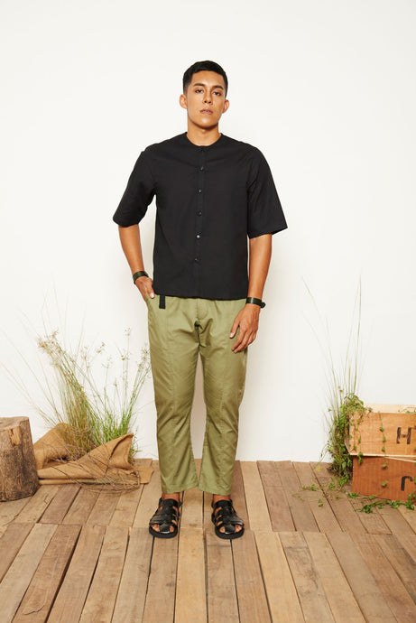 Wes Short Sleeve Shirt - Black