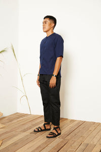 Wes Short Sleeve Shirt - Navy