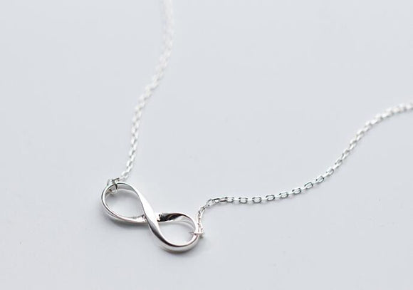 Sterling Silver Infinity Loop Necklace