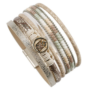 Multilayer Gold Clasp Bangle