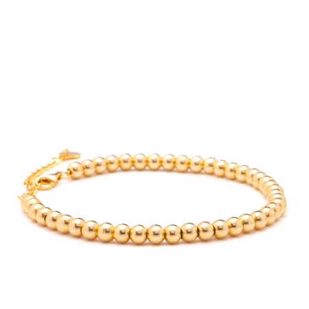 Bracelet - Monica Gold Beaded Bracelet