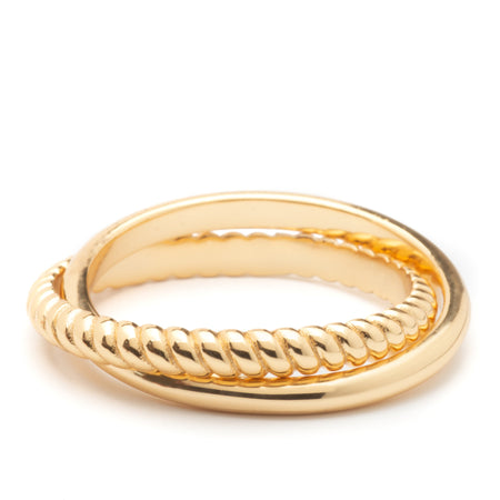 Ring - Olivia Crossover Gold Ring