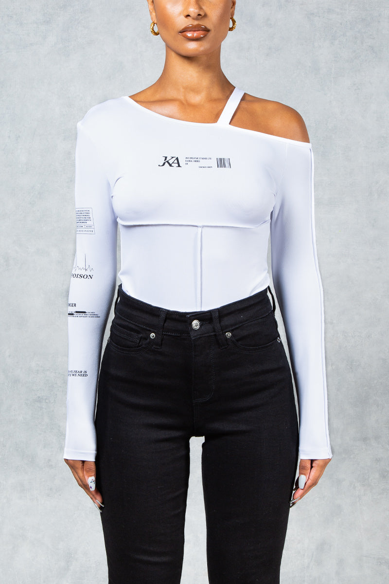 Antidote Poison Bodysuit - White