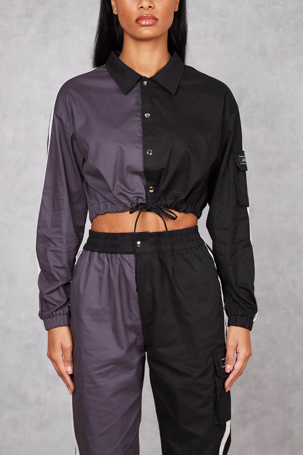 Womens Impatient Split Cropped Shirt