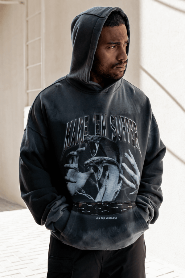 Make Em Suffer Split Dye Oversized Hoodie