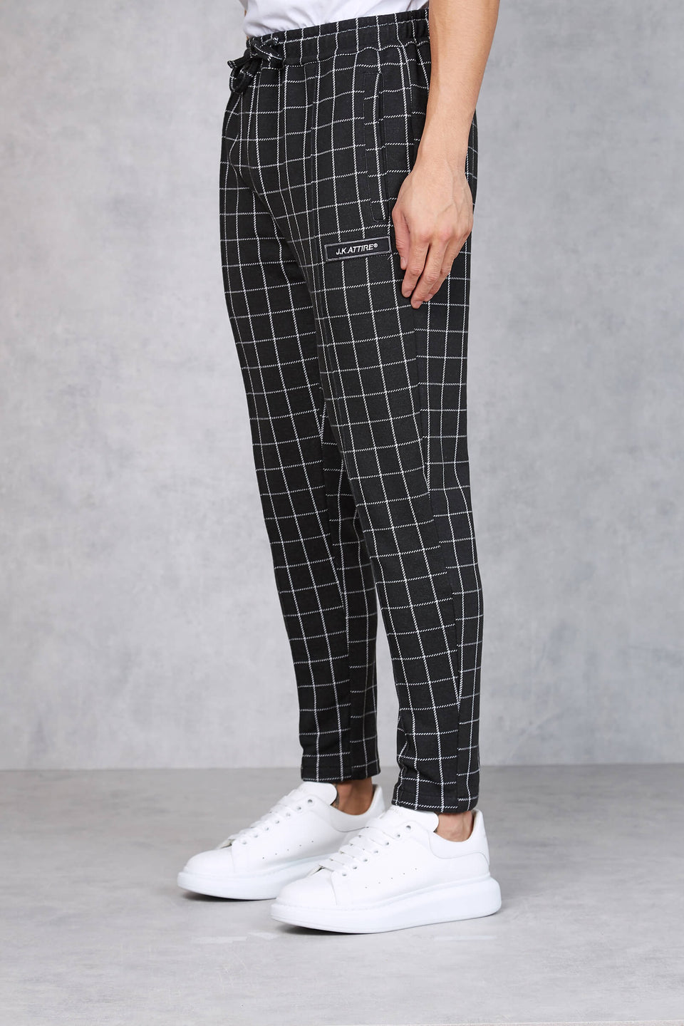 Quebec Check Cropped Trouser