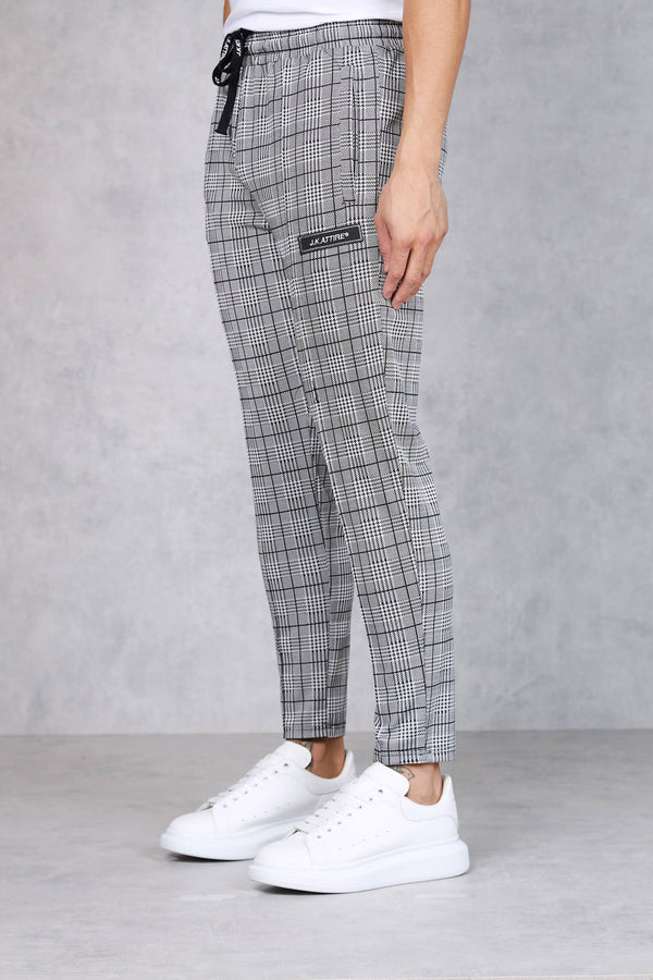 Parma Cropped Trouser - checked