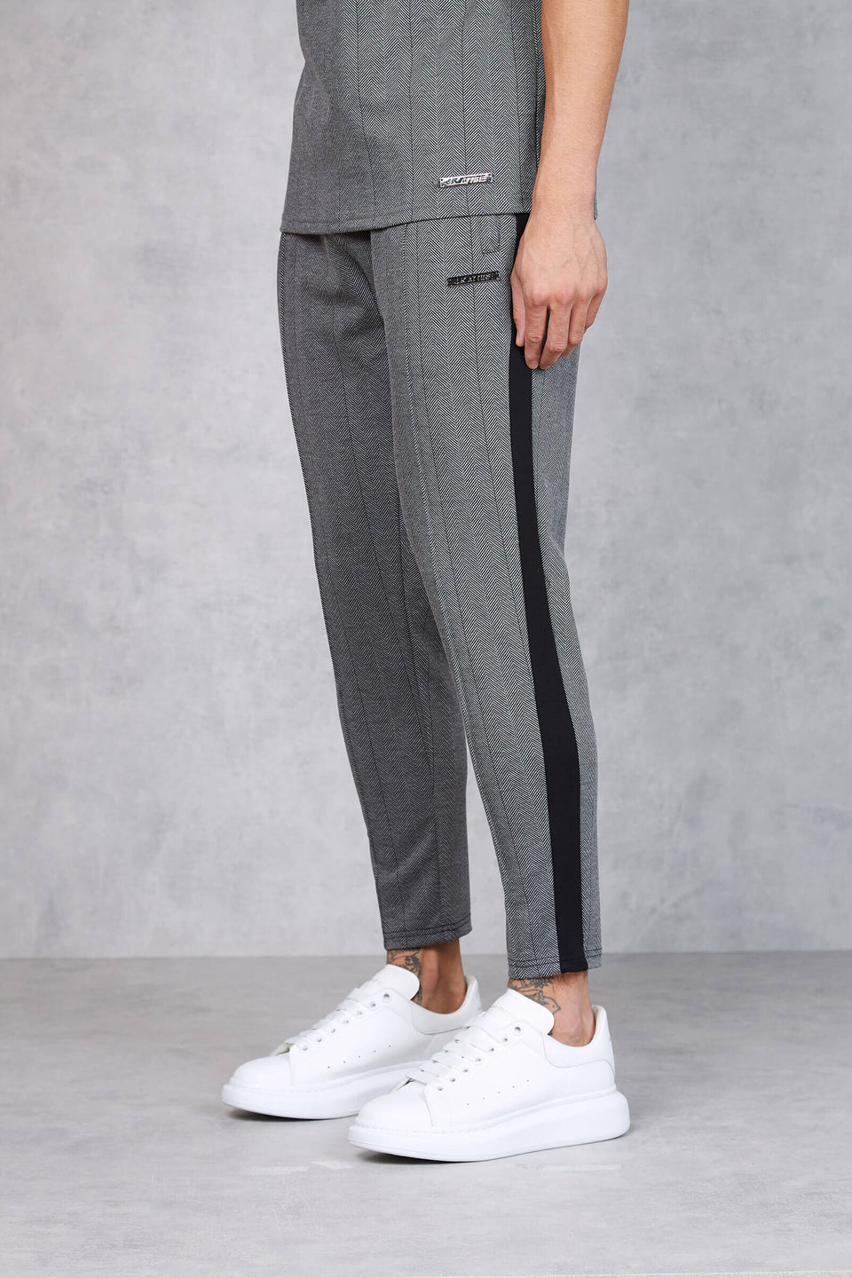 Soho Contrast Stripe Trouser - grey