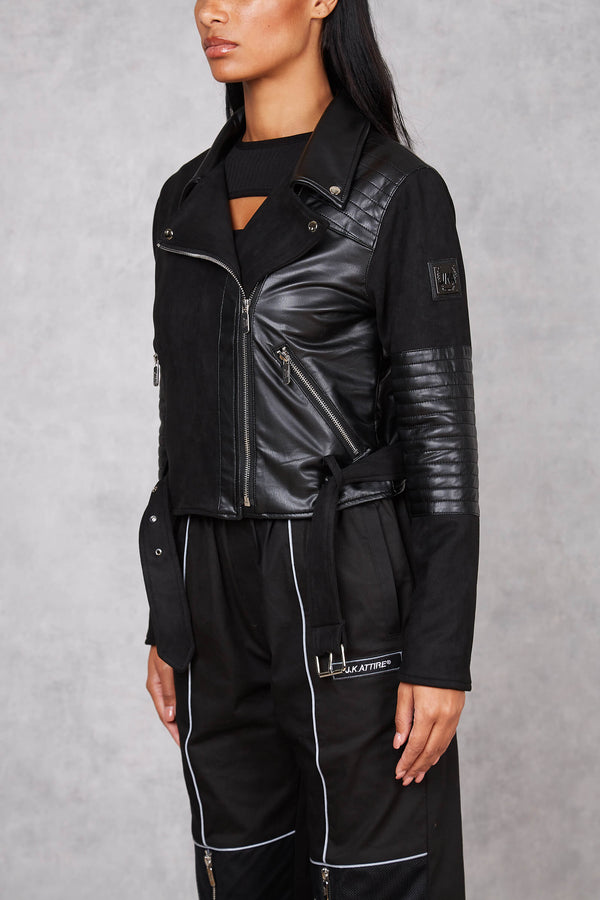 Womens Affiliated Leather Jacket